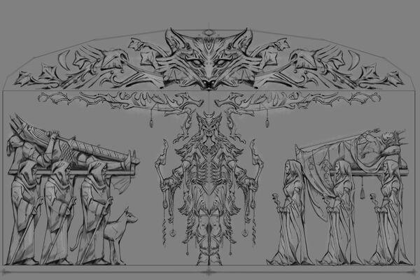 Płaskorzeźba lis (Conceptart) by Adam Adamowicz