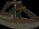 Złoty model statku