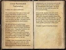 House Ravenwatch Proclamation