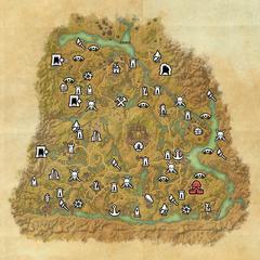 Шедоуфен-Сочащееся болото-Карта