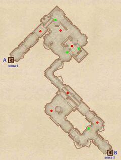 Форт Истирус - Святилища. План