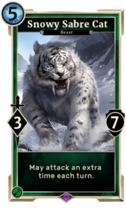Snowy Saber Cat (Legends)