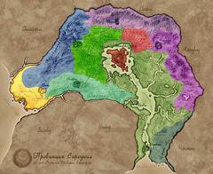 Карта Сиродила - регионы