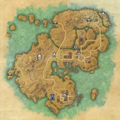Строс М'Кай-Дорожное святилище Порта Святых-Карта
