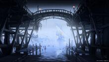 Riften Pier Concept Art