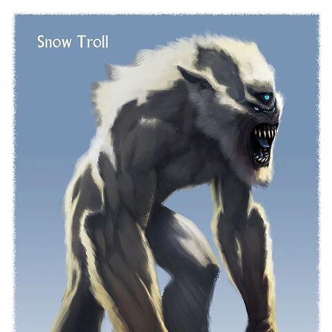 Grafika koncepcyjna trolla śnieżnego