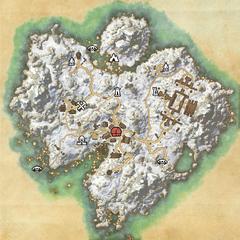 Остров Бликрок-Деревня Бликрок-Карта