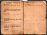 Garnikh's Hunting Log