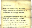 Letter from the Jarl of Falkreath