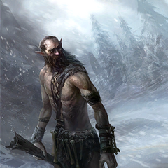 "Karta ""Olbrzym samotnik"" z gry The Elder Scrolls Legends"