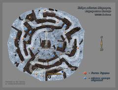 Внутреннее кольцо ледника Мортраг (план)