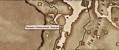 Пещера Камышовая Заводь - карта