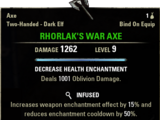 Rhorlak's War Axe