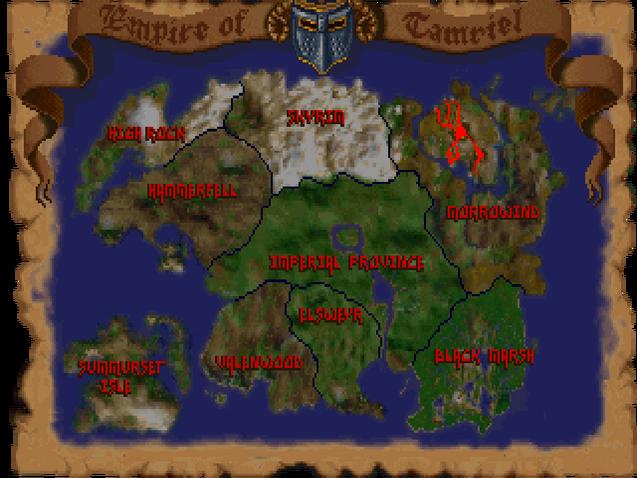 Map of Tamriel (Arena)