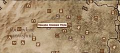 Пещера Змеиная Нора - карта