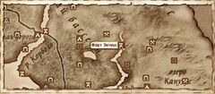 Форт Энтиус (Карта)