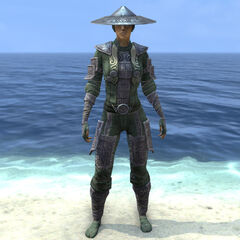Postać nosząca lekką zbroję Tsaesci z gry The Elder Scrolls Online