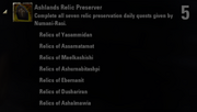 Ashlands Relic Preserver Achievement