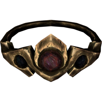 Gold and Ruby Circlet Elder Scrolls