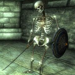 Szkielet żołnierza Tsaesci z czasów Pierwszej Akavirskiej Inwazji z gry The Elder Scrolls IV: Oblivion