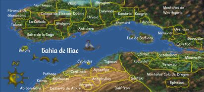 Bahía de Iliac Map