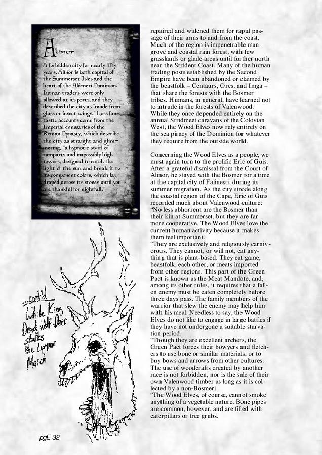Pocket Guide to the Empire, First Edition – Aldmeri Dominion 4