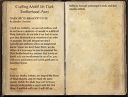 Crafting Motifs 36, Dark Brotherhood Axes