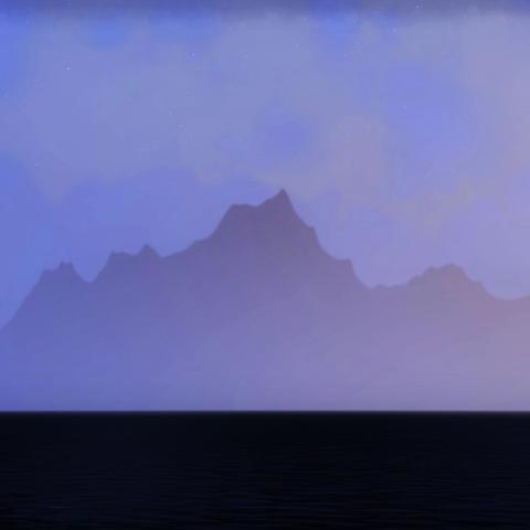 Czerwona Góra widziana z Davon's Watch w TESO