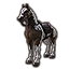 Brown Paint Horse Пегая лошадь иконка