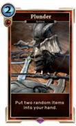 Plunder card (Legends) DWD