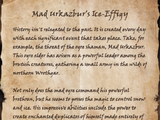 Mad Urkazbur's Ice-Effigy (Book)