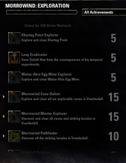 Morrowind Exploration Achievements - 2