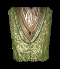 Роскошный зелёный наряд
