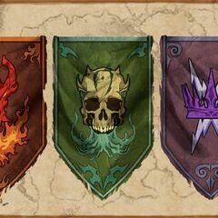 Sztandary drużyn z battlegrounds