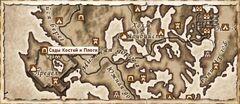 Сады Костей и Плоти. Карта