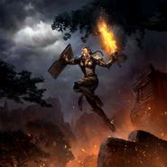 Legends - Enraged Dragonknight (Card Art)