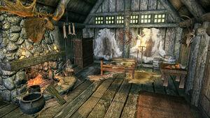 Дом Сила Весула - спальня и очаг