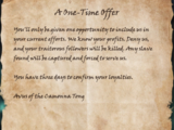 A One-Time Offer