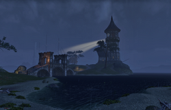 Koeglin Lighthouse by night