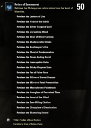 Relics of Summerset Achievement