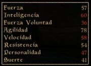 Tabla de atributos (Morrowind)