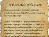 To the Captain of the Guard