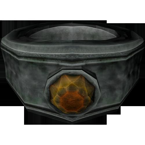 Silver Garnet Ring Elder Scrolls