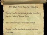 WANTED: Tervur Sadri