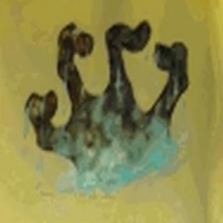 Dłoń Numidium wynurzająca się z zatoki Iliac z gry The Elder Scrolls II: Daggerfall