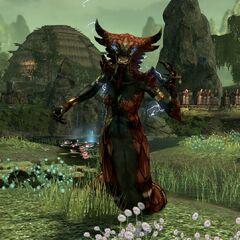 Czerwona lamia z gry The Elder Scrolls Online