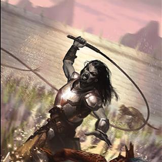"""Karta """"Dręczyciel Tresów"""" z The Elder Scrolls: Legends."""