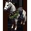 Winter Garland Dapple Gray Серый в яблоках зимний скакун с гирляндой иконка