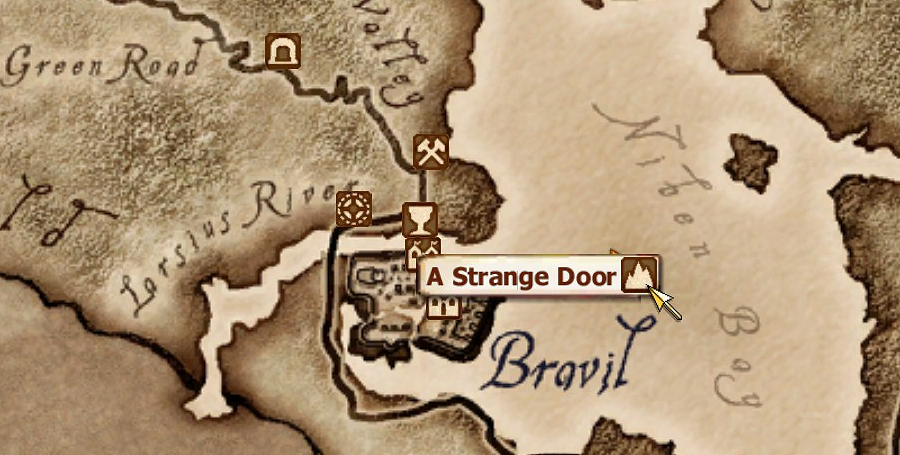 A Strange Door MapLocation.png & Image - A Strange Door MapLocation.png | Elder Scrolls | FANDOM ...