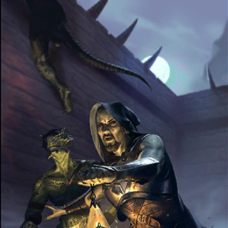 "Karta ""Renegat Tresów"" z The Elder SCrolls: Legends."
